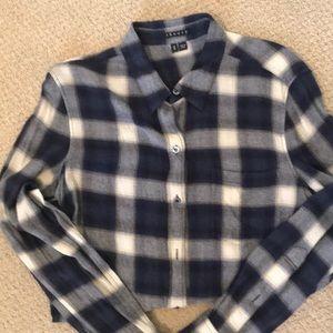 Theory lightweight flannel shirt